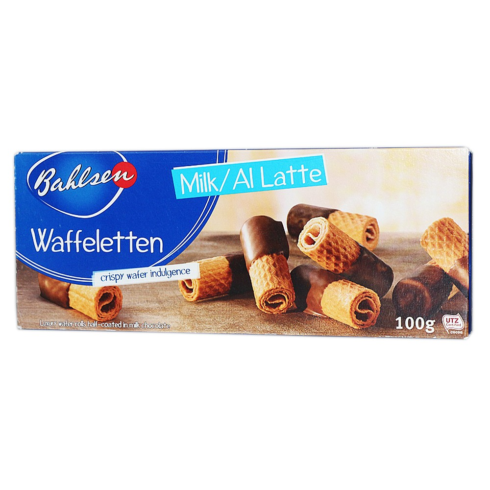Bahlsen Waffeletlen Milk Chocolate Rolls 100g