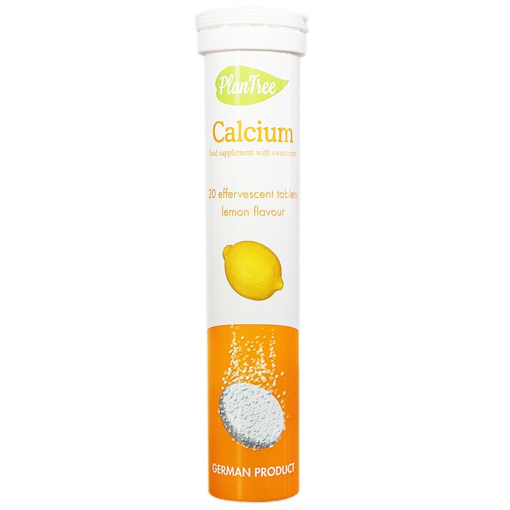 Plantree Calcium Effervescent Tables (Lemon Flavour) 90g