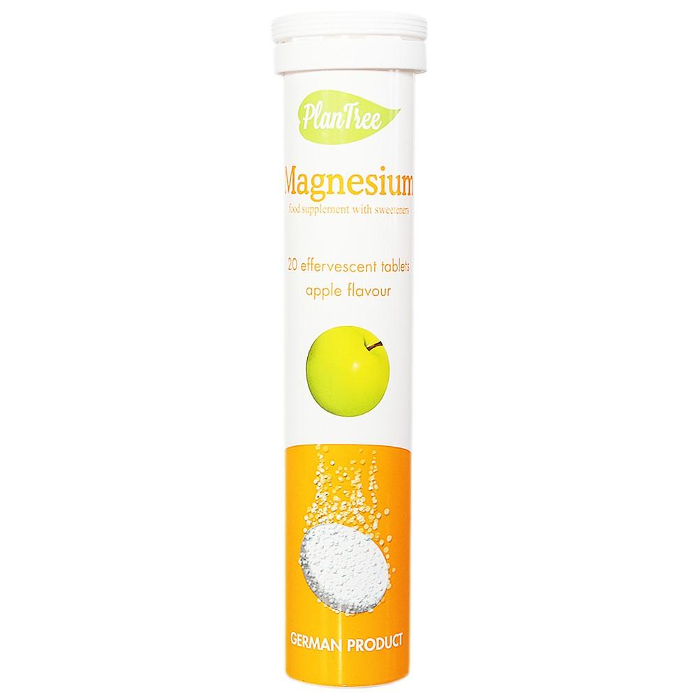 Plantree Magnesium Effervescent Tables (Apple Flavour) 80g