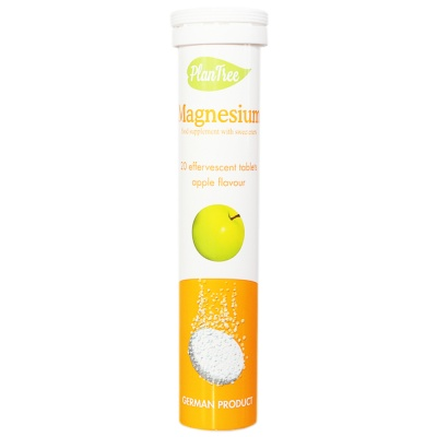 Plantree Magnesium Effervescent Tables (Apple Flavour) 80g