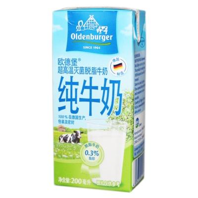 欧德堡脱脂牛奶 200ml