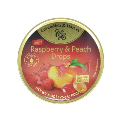 Cavendish&Harvey Raspberry & Peach Candies 175g