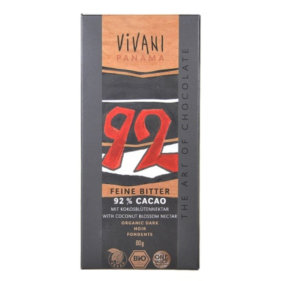Vivani 92% Cacao Dark Chocolate 80g