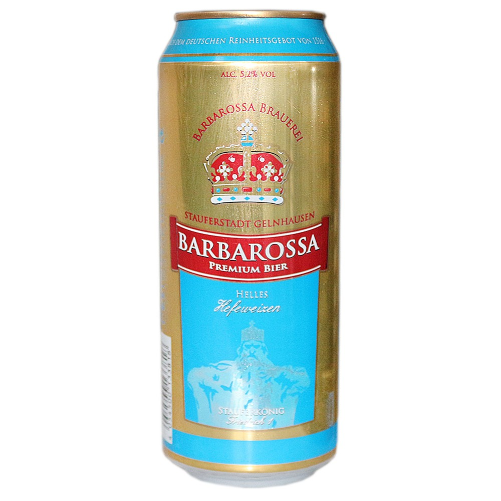Barbarossa White Wheat Beer 500ml