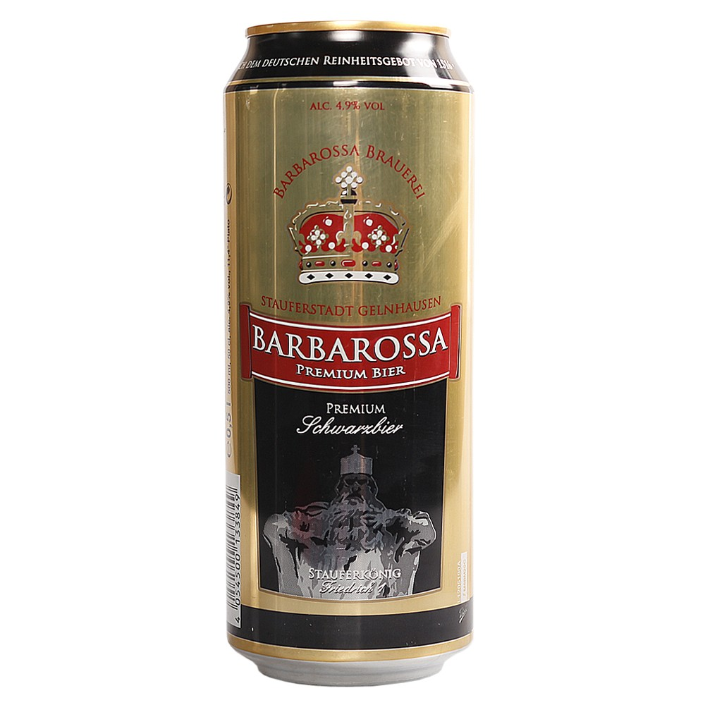 Barbarossa Black Wheat Beer 500ml