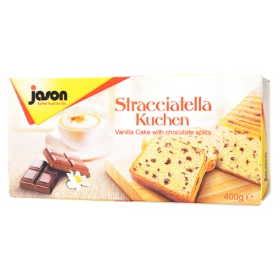 Jason vanilla cake with chocolate splits 400g