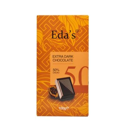 Eda'S 50% Extra Dark Chocolate 100g