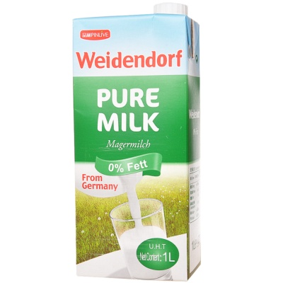 Weidendorf 0% Fat Pure Milk 1L