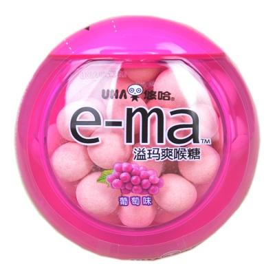 UHA E-ma Nodoame Candy Grape 33g
