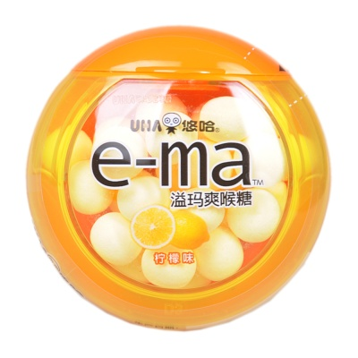 UHA E-ma Nodoame Candy Lemon 33g