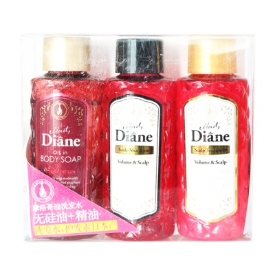 Diane Body Soap + Scalp Shampoo + Scalp Treatment 50ml*3