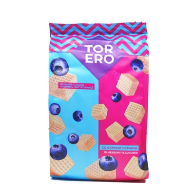 Torero Blueberry Flavored Wafers 125g
