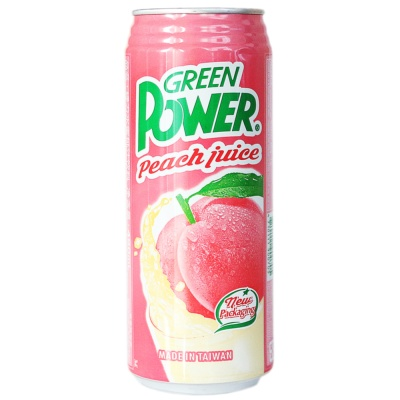 Green Power Peach Juice 490ml