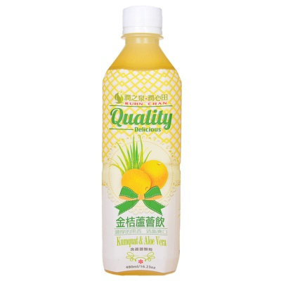 Ruhn chan Kumquat & Aloe Vera Drink 480ml
