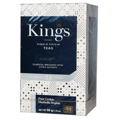 King's Earl Grey Black Teas 50g