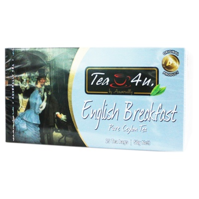 TEA4U English Breakfast Pure Ceylon Tea 25*2g