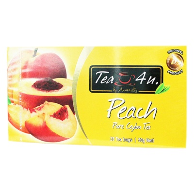 TEA4U Peach Pure Ceylon Tea 25*2g
