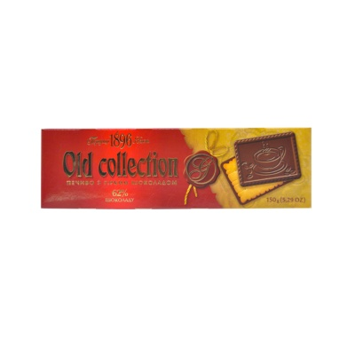 Old Collection Biscuits With Bitter Chocolate 150g