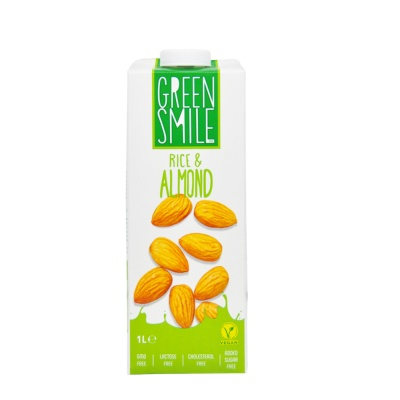 Green Smile Rice & Almond Vegan Milk 1L