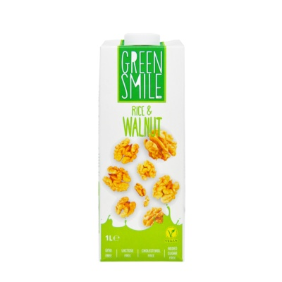 Green Smile Rice & Walnut Vegan Milk 1L