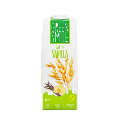 Green Smile Oat & Vanilla Vegan Milk 1L
