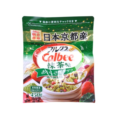Calbee Matcha Fruit Cereal 450g