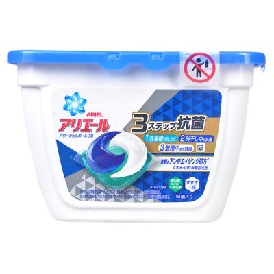 宝洁牌蓝色抗菌清新香型洗衣球 356g(18个)