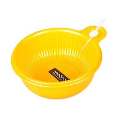 Inomata Plastic Colander (Yellow) 14.9*17.6*6.6