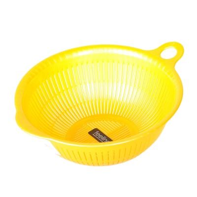 Inomata Plastic Colander (Yellow) 22*9