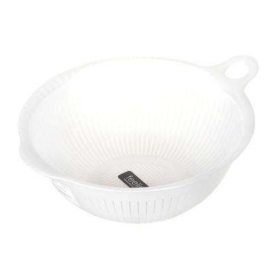 Inomata Plastic Colander(White)