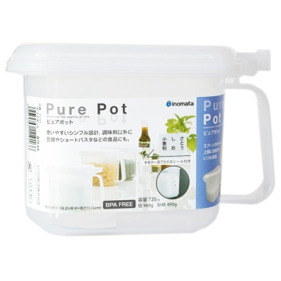 Inomata Pure Pot(With Spoon) 720ml