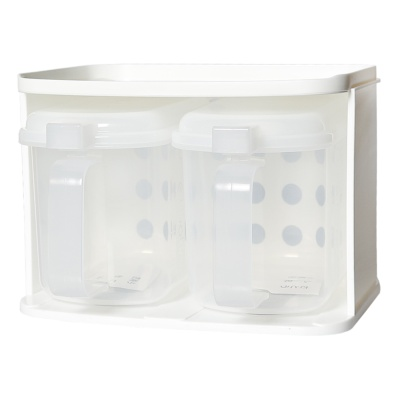 Inomata Plastic Storage Box (White) 19.3*16.3*13.4Hcm