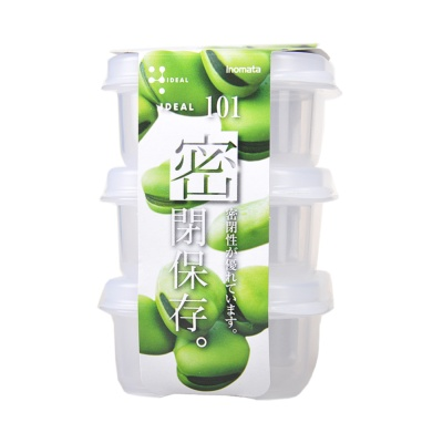 Inomata Food Container 7.3*7.5*3.7cm 3p