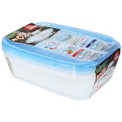 Inomata Rectangular Crisper(Blue) 400ml*2