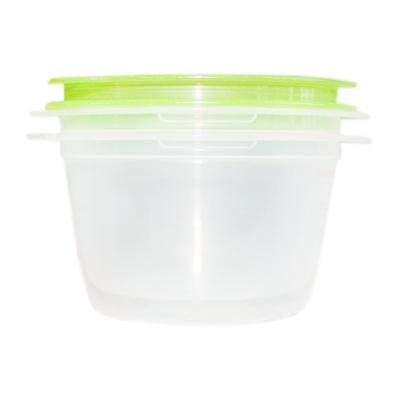 圆型乐扣保鲜盒(绿) 270ml*2