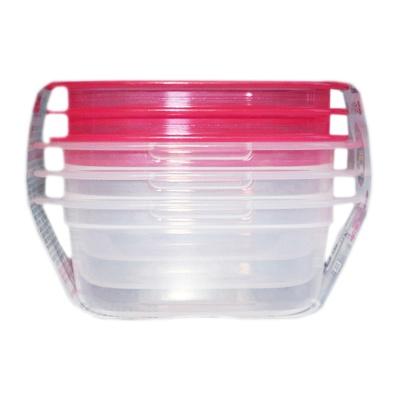 Inomata Square Crisper (Pink) 90ml*3