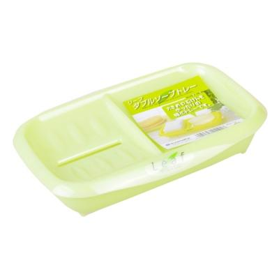 浪漫樱花塑料香皂盒-绿色 19.1*13*4.1