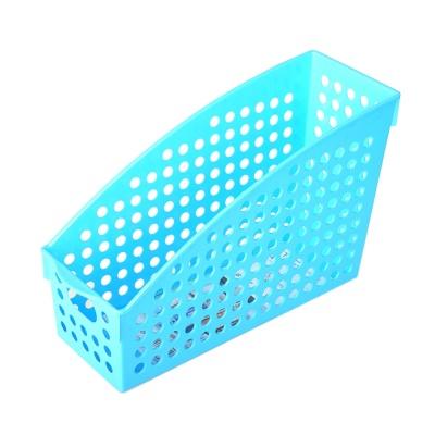 Inomata Plastic Storage Basket Blue 10.4*27.8*17.8