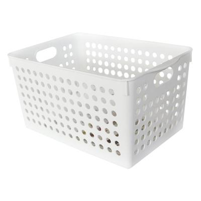 Inomata Deep Stock Basket -White 27.4*18*14.3