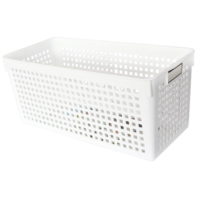 Mesh Storage Basket(White) 16.8*29*11.8