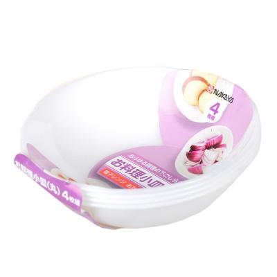 Nakaya Plastic Bowls White 4p