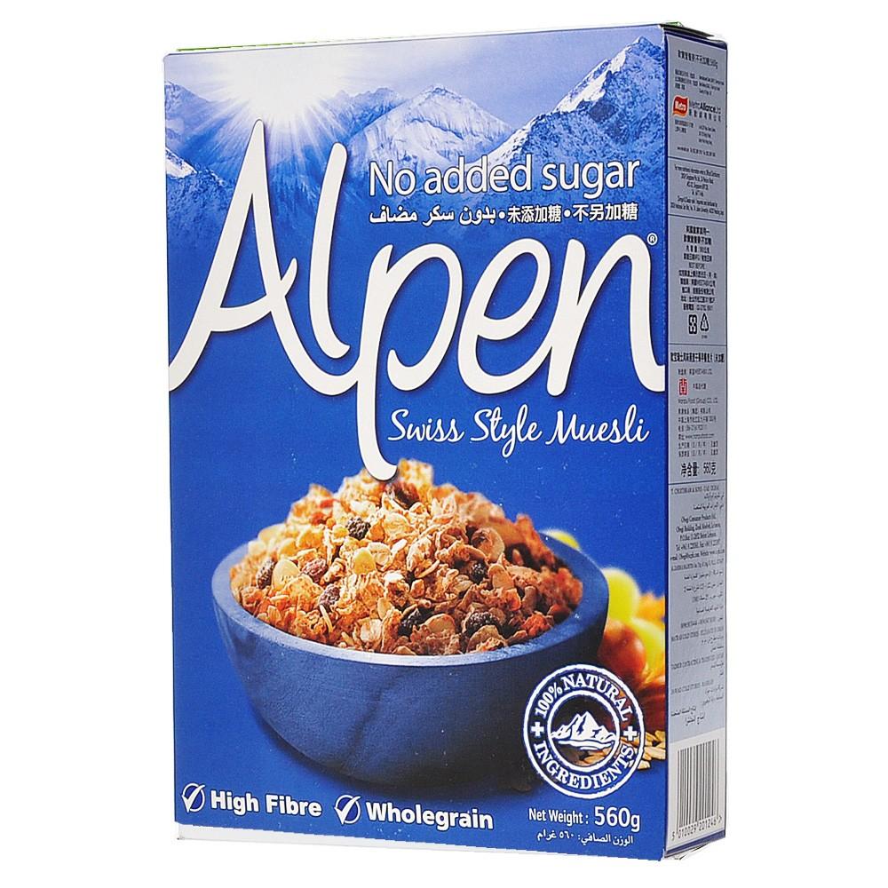 Alpen Swiss style Muesli no sugar 560g