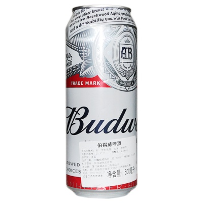 伯得威啤酒(百威听装) 500ml