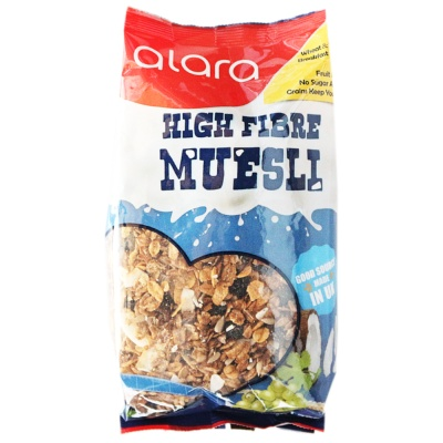 Alara High Fibre Muesli With 43% Fruit & Nut Content 360g