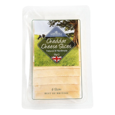 Natural English Red Cheddar Slices 150g