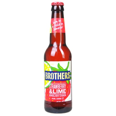 Brothers Strawberry&Lime Cider Beer 330ml