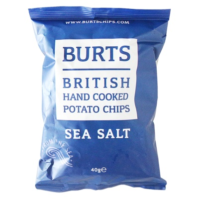 Burts British Hand Cooked Potato Chips(Sea Salt) 40g