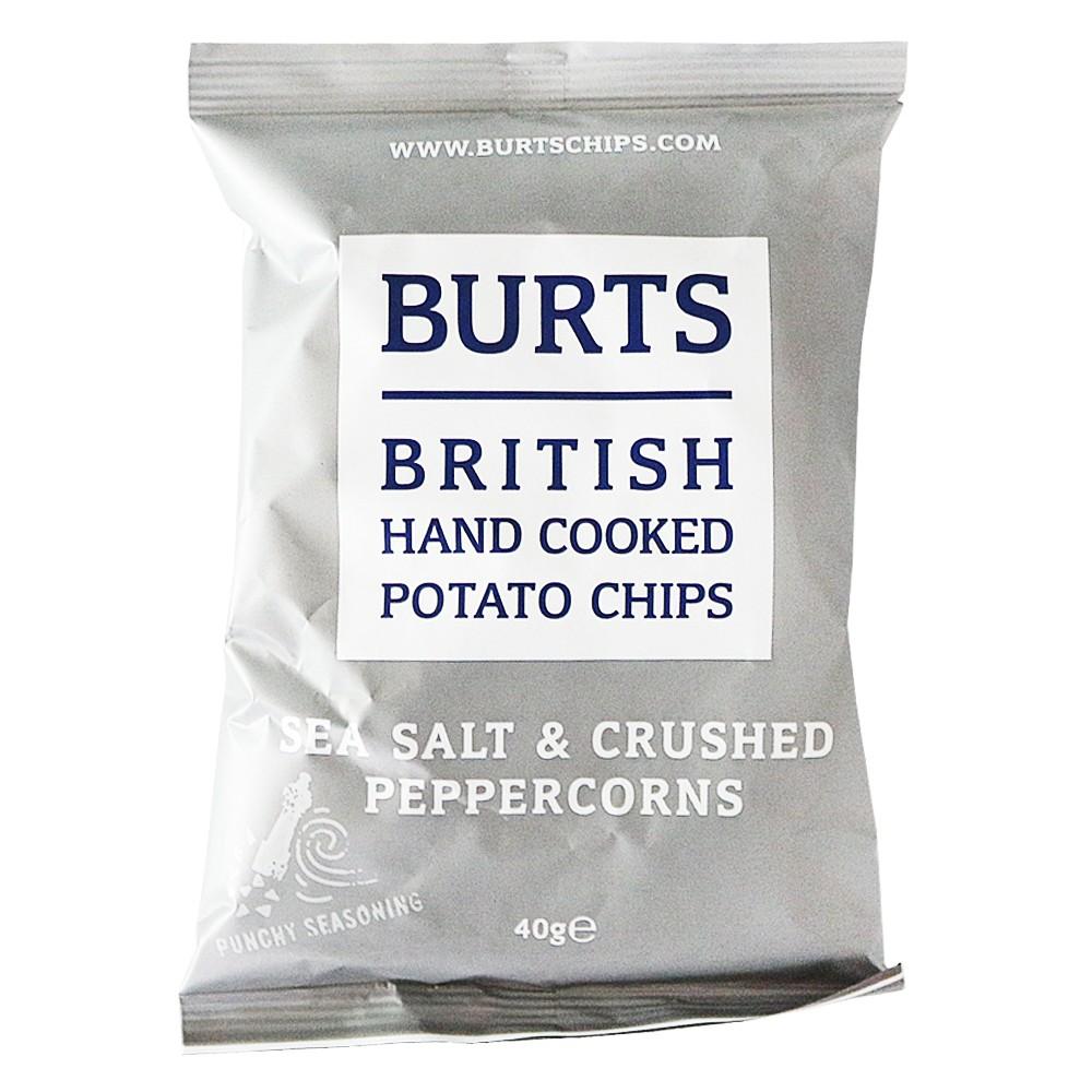Burts British Hand Cooked Potato Chips(Sea Salt&Crushed Peppercorns) 40g