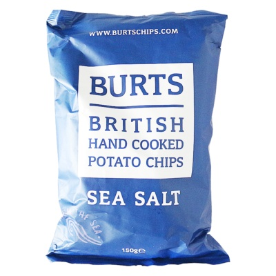 Burts British Hand Cooked Potato Chips(Sea Salt) 150g