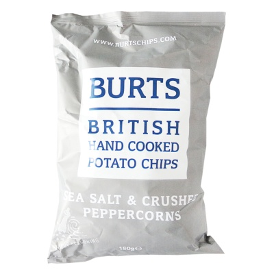 Burts British Hand Cooked Potato Chips(Sea Salt&Crushed Peppercorns) 150g